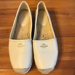 Coach Rye Nappa Closed Toe Espadrille Flats